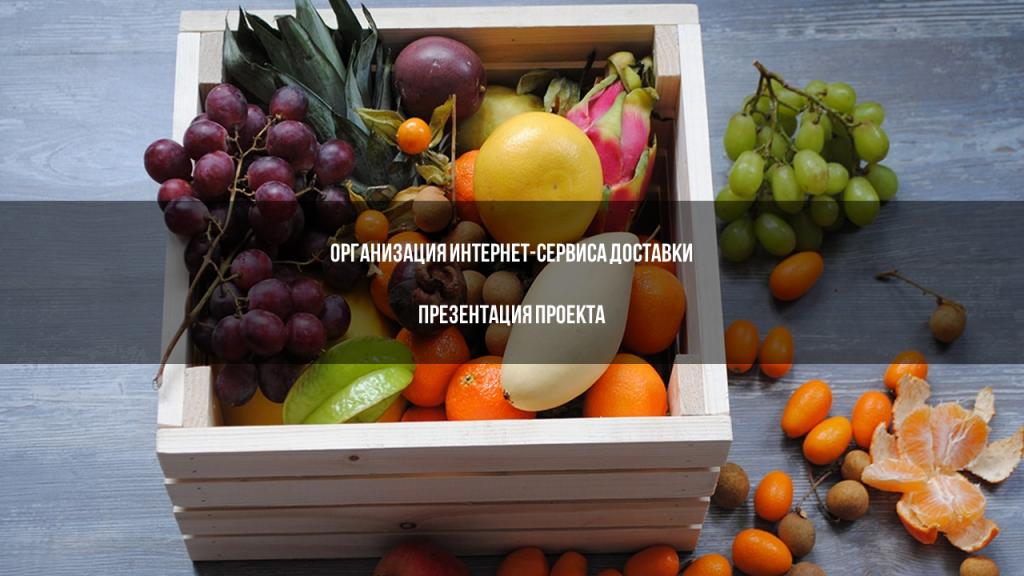 Презентация стартапа для инвестора - Организация интернет-сервиса доставки продуктов