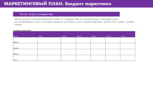 Шаблон бизнес плана 2021 6